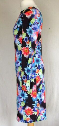 NEW Floral Stretch BodyCon Midi Party Evening Dress Long Sleeve Ex LIPSY UK6-12