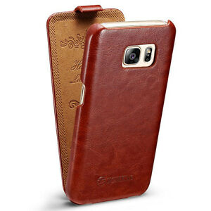 huge selection of 34265 d7991 Details about New Luxury Leather Vertical Flip Case Cover Pouch For Samsung  Galaxy S7/S7 Edge