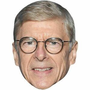 Arsene Wenger Celebrity Mask Card Face and Fancy Dress Mask