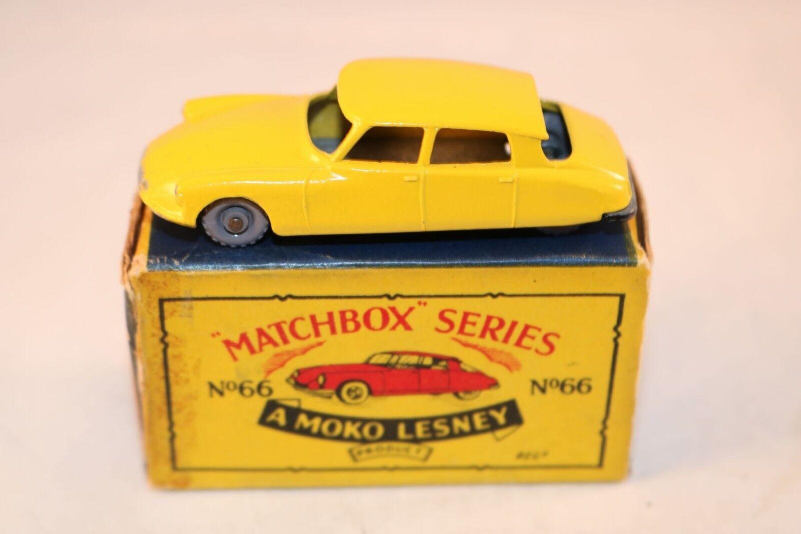 Matchbox A Moko Lesney No 66 Citroen DS 19 GPW very near mint in box