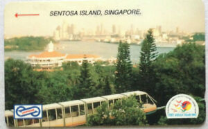 Malaysia-Used-Phone-Card-Visit-ASEAN-Year-1992-Sentosa-Island-Singapore