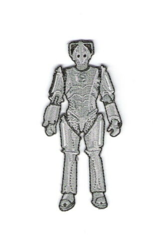 "Doctor Who British TV Show Cyberman Figure Die-Cut Embroidered Patch 4/"" Tall"