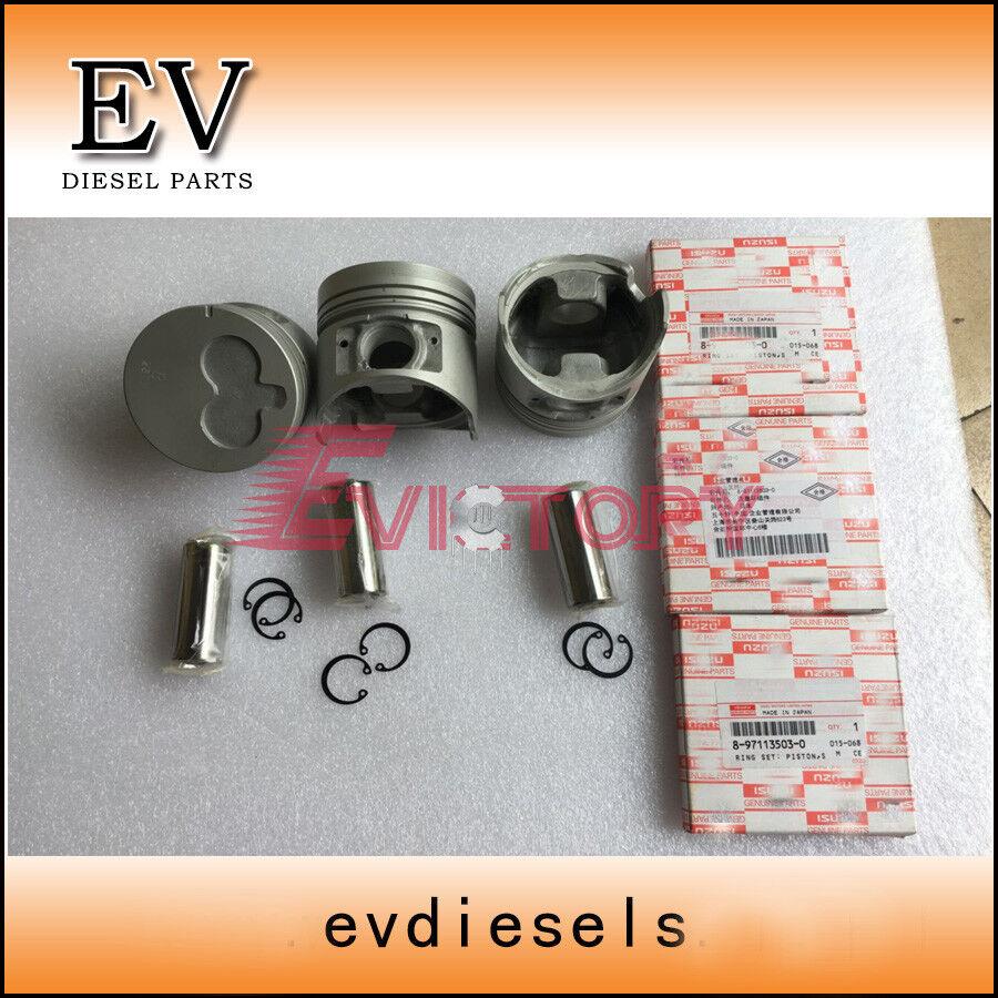 Isuzu 3LD1 piston + ring cylinder liner gasket for Mini