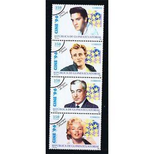 Äquatorial-guinea Edifil 218/221 Cinema Marilyn Elvis Überlastung Der Probe Briefmarken