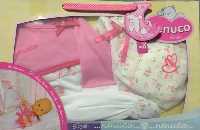 FAMOSA NENUCO BEDTIME OUTFIT SUITS 42cm DOLL BRAND NEW