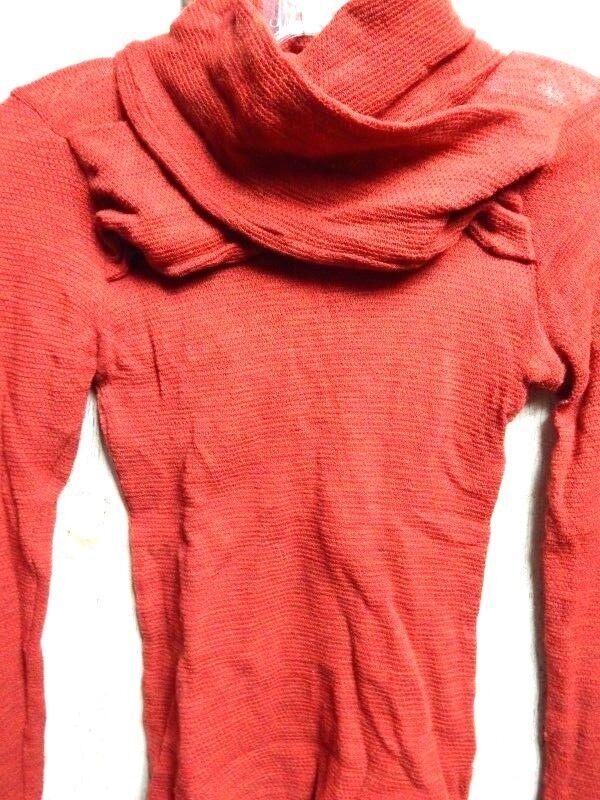 L.A.M.B. LAMB USA Gwen Stefani Designer rot Wrap Collar Turleneck Blouse Top M