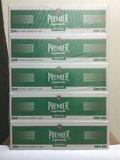 5 Boxes 1000 cig Premier Supermatic Menthol King Size Cigarette Tobbaco Tube