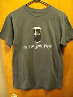 GUINNESS Beer My Pint Sized Friend OFFICIAL PROMO T Shirt Small Gray NEW