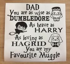Dad My Favourite Muggle Decal vinyl sticker Ikea Box Frame Father Harry Potter