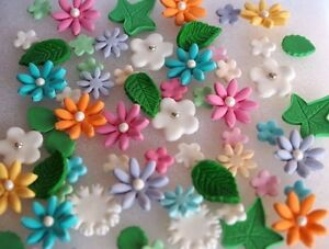 Image Is Loading Gorgeous Edible Flower Garden CUPCAKE TOPPERS Birthday Cake