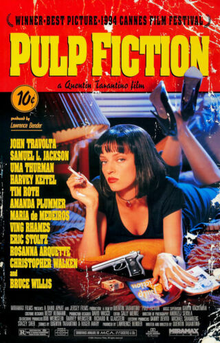 """Time Cover Collector/'s Poster Print 11/"""" x 17/"""" Pulp Fiction B2G1F"""