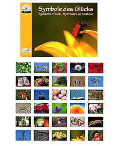 Postkartenbuch-Symbole-des-Gluecks-30-Postkarten-NEU