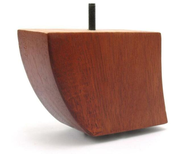 "Set of 4 8/"" Solid Wood Walnut Finish Sofa Furniture Legs 3//8/""-16 Bolt"
