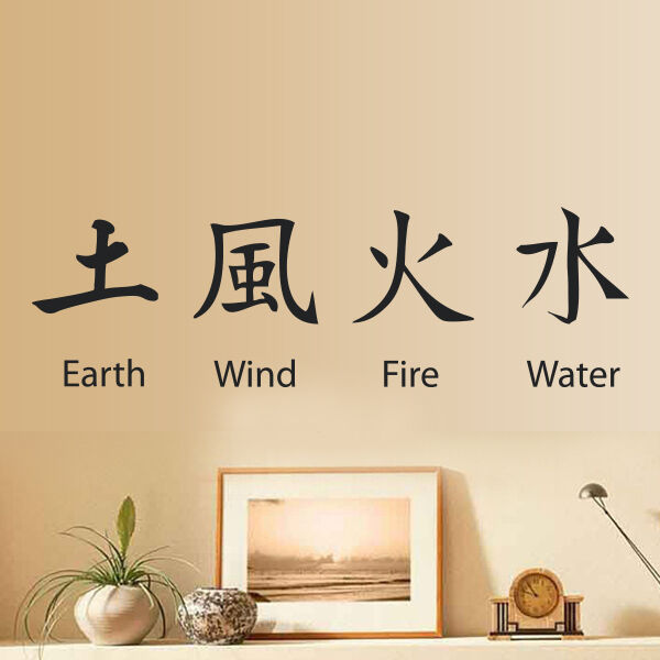 Chinese Symbol Wall Sticker Art Vinyl Home Decal Mural Earth Wind