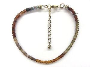 Saphir-Safir-multi-facettiert-Armband-19-22-cm-Multi-Sapphire-Bracelet-4701