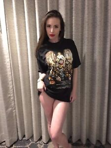 Image Is Loading Casey Calvert Authentic Autographed Signed Amp Worn Shirt