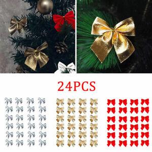 24er-Pack-Weihnachtsschleifen-Christbaumschmuck-Weihnachtsbaumschmuck-Schleifen