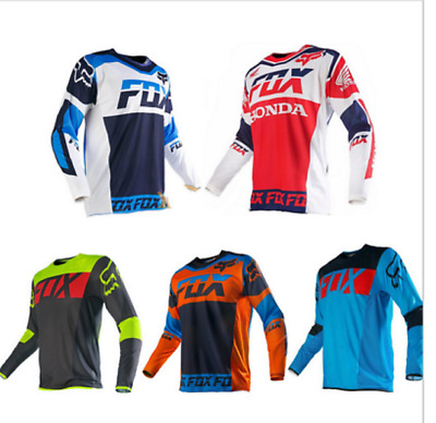FOX Radtrikot Racing MTB Fahrrad Team Downhill Off Road Cycling Jersey Trikots