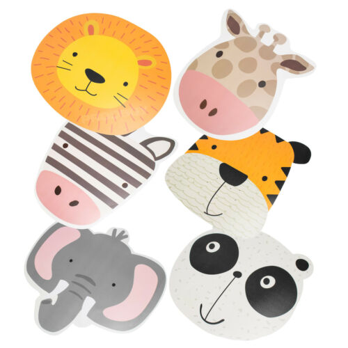 6 x Zoo Animal Kids Childrens Plastic Placemats Dining Table Place Setting Mats