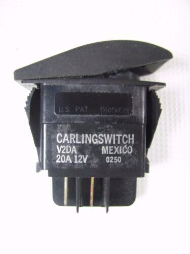 Carling Rocker Switch V2DA 20A 12V Momentary ON//OFF