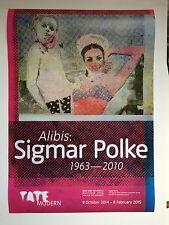 SIGMAR POLKE. Exhibitition poster, 'Alibis' Tate Modern gallery, 2014