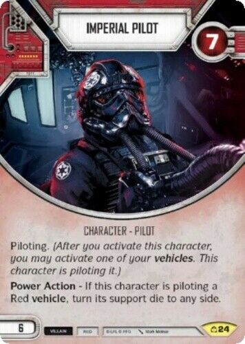 x2 Imperial Pilot 24 Uncommon Star Wars Destiny Covert Missions M//NM
