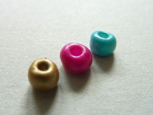 20 g Rocailles Glasperle Saat Indianerperlen Mix Mischung bunt 4 mm 6//0 2777