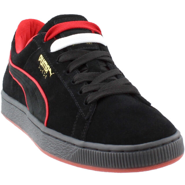 Mens PUMA X FUBU Suede Classic 50th Anniversary Black Red 366320-02 ... b59ba0e77