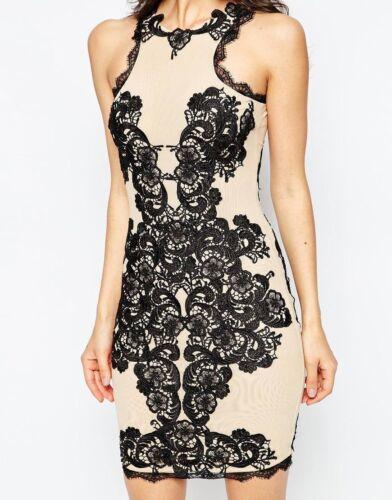 Forever Shift Giselle Illusion Rp Lace £ Dress Bnwt Unique Applique Uk12 250 Mesh Owpd0qnT