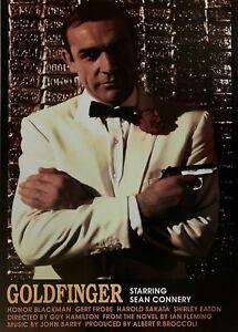 VINTAGE James Bond 007 Goldfinger Movie Poster British Import  24 X 34 Rolled