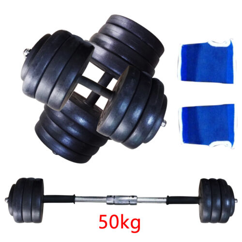 Fitness 40KG 50KG Dumbells paire de poids Barbell//haltère Body Building Set