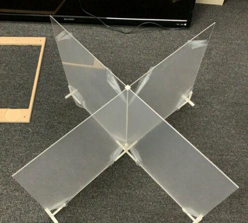 "1 Set SNEEZE GUARD PlexiGlass 4-Way 16/""x20/"" or 20/""x16/"" Each Side"