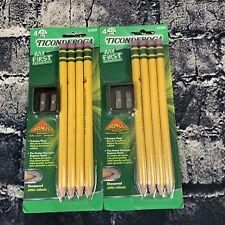 Ticonderoga My First 2 Beginners Pencils 33309 Sharpener Lot Of 2 Packs