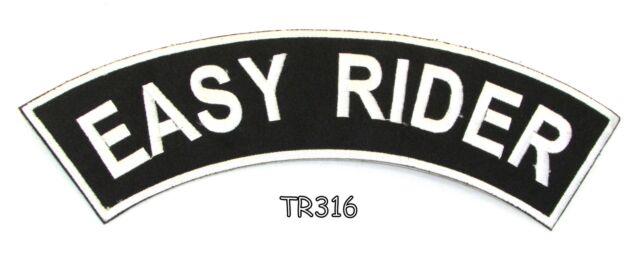 Irish White on Black Border Iron on Top Rocker Patch for Biker Vest Jacket