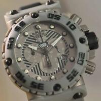 New Mens Invicta 0406 Subaqua Nitro Swiss Made Chrono Black and Grey SS Watch