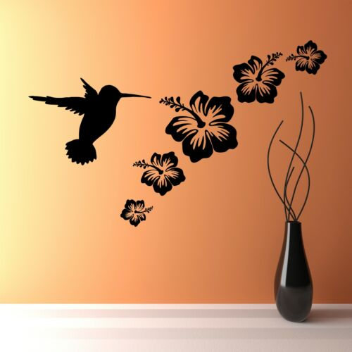 Oiseau-Mouche /& Fleurs Décoration Murale Décalques en Vinyle Stickers