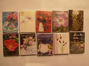 Pack-of-8-blank-mini-note-cards-thank-you-choose-from-10-designs-flower-floral