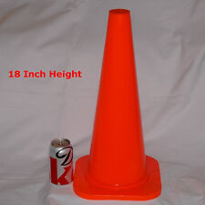 """WORKOUTZ 18"""" INCH ORANGE CONES (LOT OF 6) SAFETY SPORTS PARKING AGILITY TRAINING"""