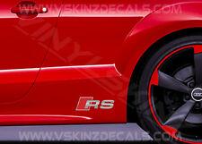 2x AUDI RS Premium Cast Gonna Decalcomanie Adesivi S-LINE QUATTRO A3 A4 A5 A6 Q3 TT
