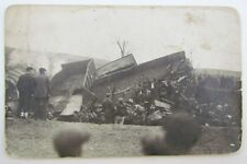RPPC VINTAGE PHOTO POSTCARD by F.Gable Altoona PA TRAIN WRECK railway railroad