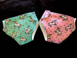 2 New Dolls Unicorn Nappies Fit Baby Born Annabell ...