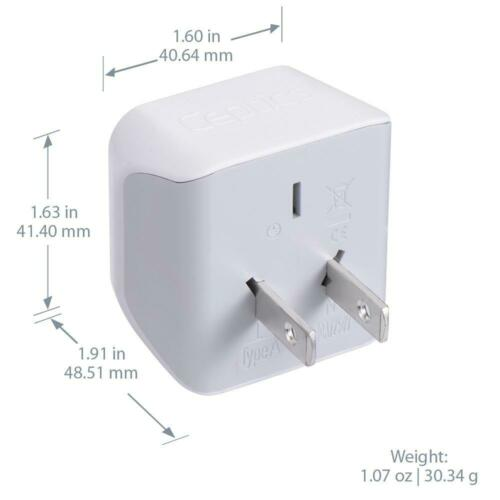 Philippines Travel Adapter Plug Ceptics USA to Japan CT-6, 3 Pk Type A