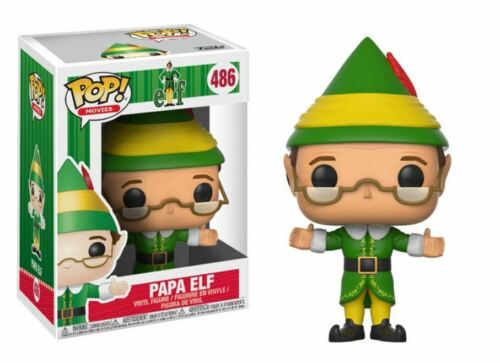 "ELF PAPA ELF 3.75/"" POP MOVIES VINYL FIGURE FUNKO 485 CHRISTMAS UK SELLER"