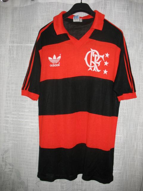 VINTAGE 80s CRF FLAMENGO ADIDAS (M) SOCCER FOOTBALL JERSEY SHIRT MAGLIA  BRASIL b35f73feaf35c