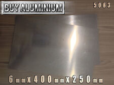 6mm Aluminium Plate / Sheet 400mm x 250mm - 5083