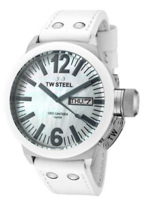 TW Steel CEO Canteen Men's 45mm White Ceramic MOP Watch CE1037 2500000506246