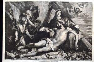 La-deposizione-della-Croce-quadro-di-Antoon-Van-Dyck-Incisione-del-1869