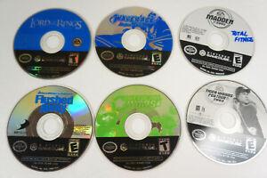 6-Nintendo-Gamecube-Game-Disc-Only-Lot-Wave-Racer-Tiger-Woods-Madden