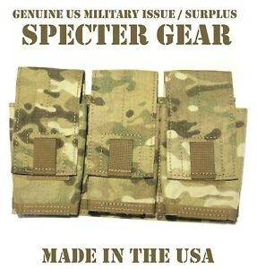 SPECTER-GEAR-747-US-MILITARY-MULTICAM-MOLLE-TRIPLE-7-62-RIFLE-MAG-POUCH-SHINGLE