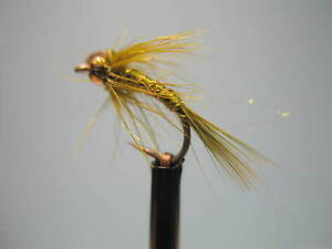 3 x GOLD HEAD FLASHBACK BLACK PHEASANT TAIL NYMPH sizes 10 12 14 16 available
